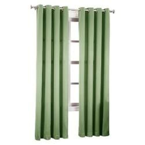"Seymour Energy Efficient Grommet Curtain Panel Sage 54""x84""- Sun Zero - Keuka Outlet"