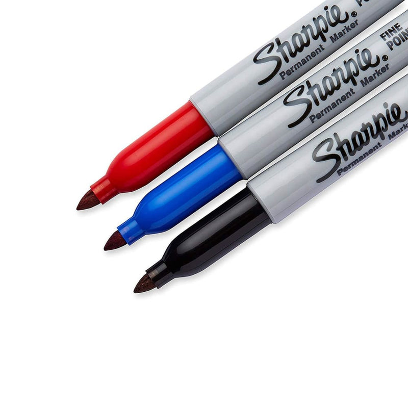 Sharpie 30173PP Permanent Markers, Fine Point, 3Pk - Keuka Outlet