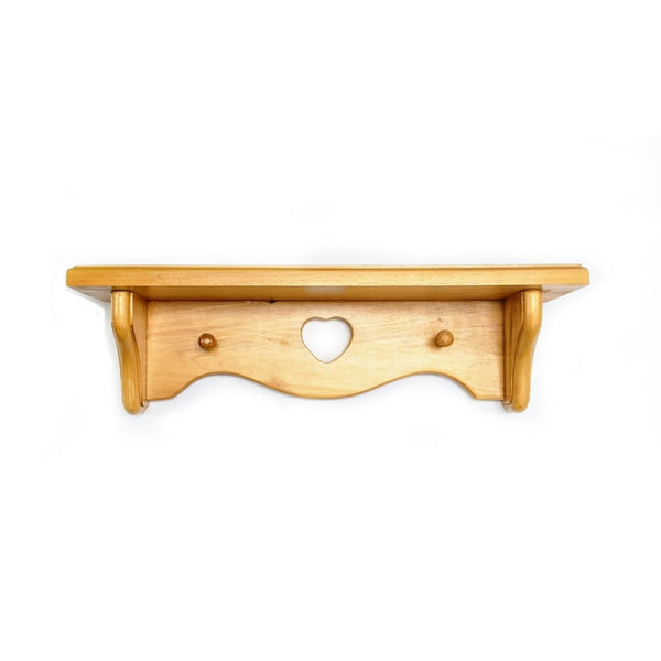 Small Solid Wood Wall Shelf - Home Décor