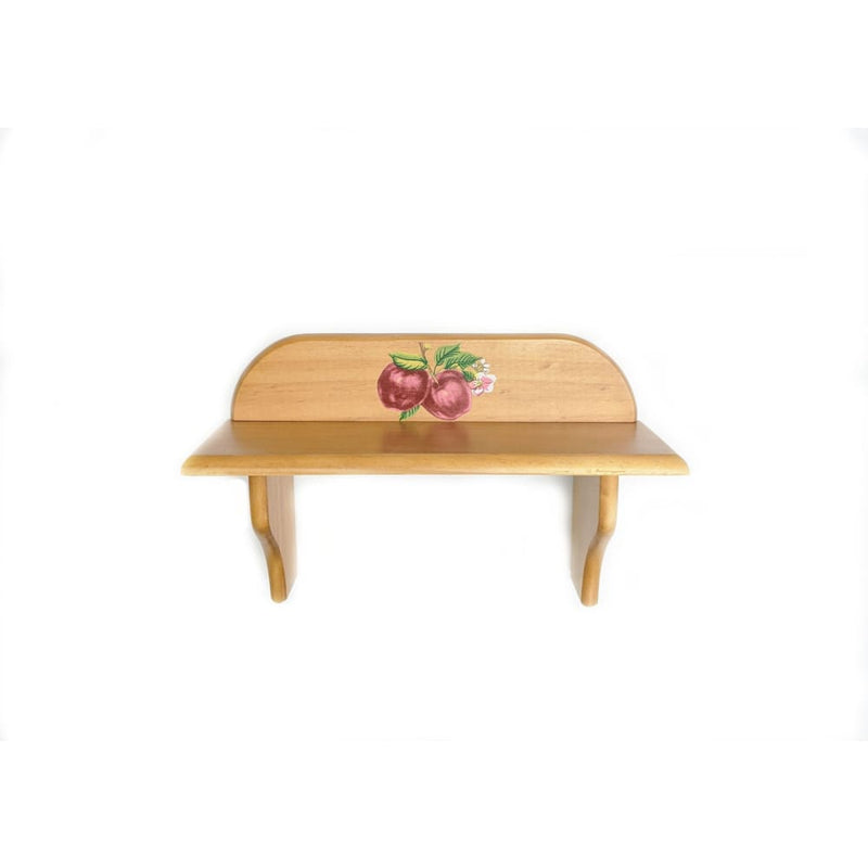 Small Wooden Wall Shelf Apples - Home Décor