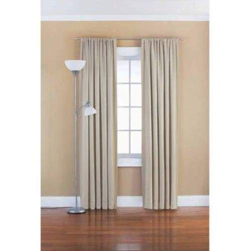 Solid Room Darkening Polyester Curtain Panel - Keuka Outlet