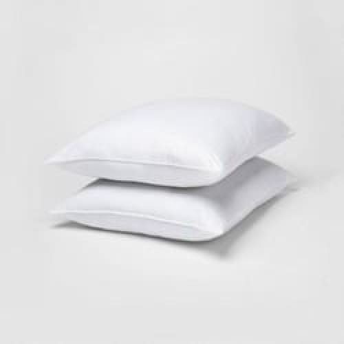 Standard/Queen 2pk Rolled Bed Pillow White - Home