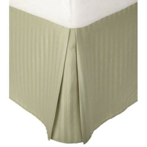 Superior 1500 Series Microfiber Wrinkle Resistant Pleated Stripe Bed Skirt - Keuka Outlet