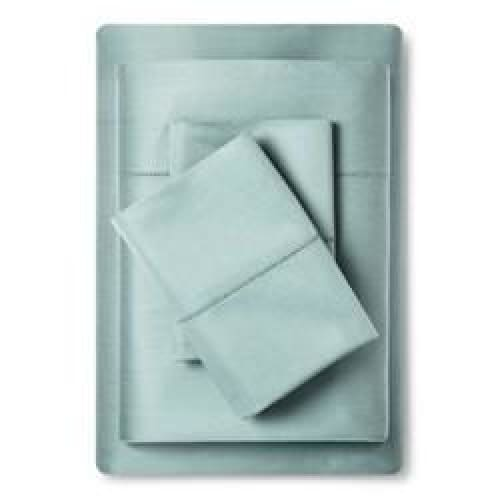 Supima Classic Hemstitch Sheet Set (King) Smoke Green 700 Thread Count - Bedding