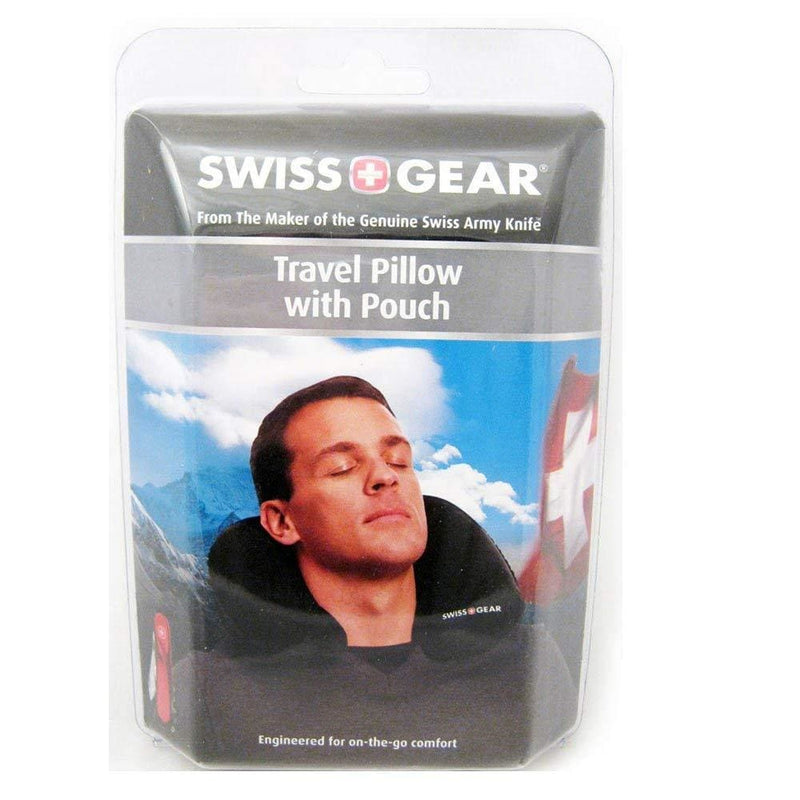 Swiss Gear Travel Pillow With Inflatable Pouch, Black - Keuka Outlet