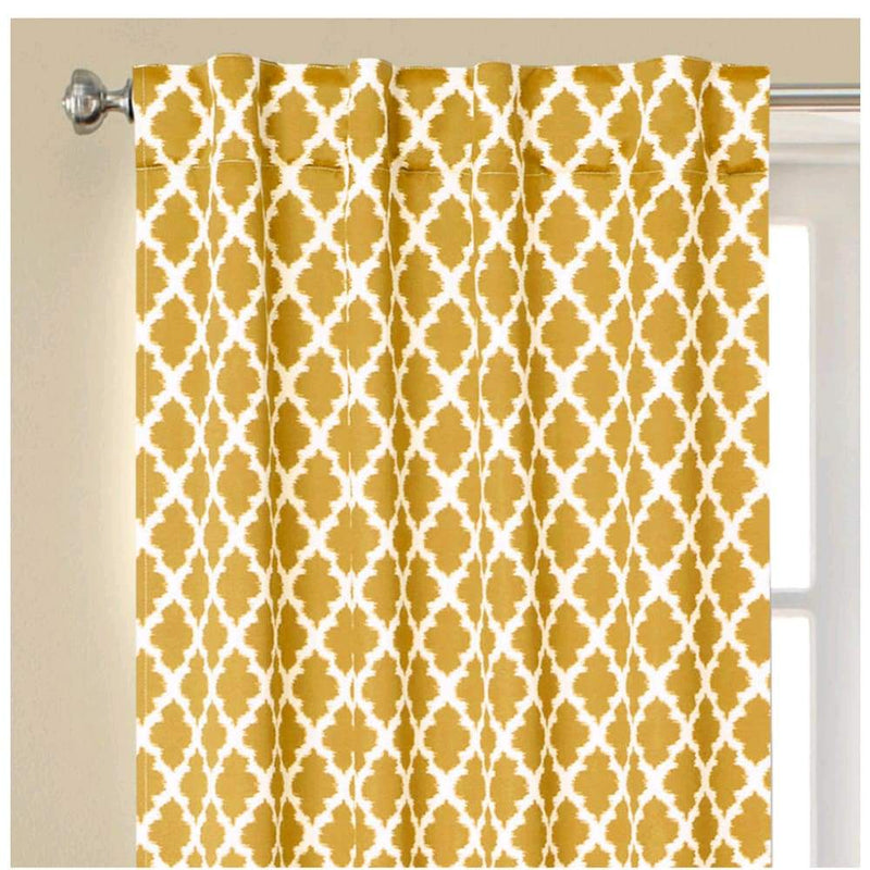 Tangier printed thermal 99% light blocking curtain panel rod pocket - Curtains