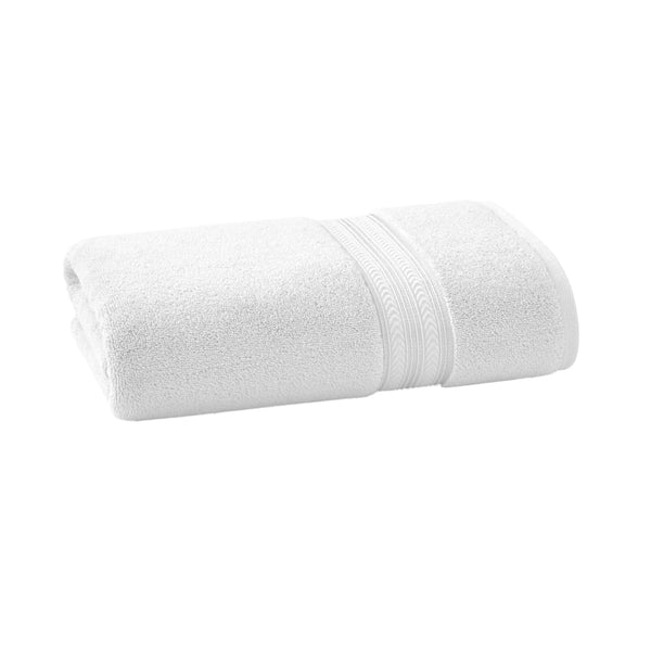 Thick and Plush Solid Cotton Bath Towel Arctic White - Bath