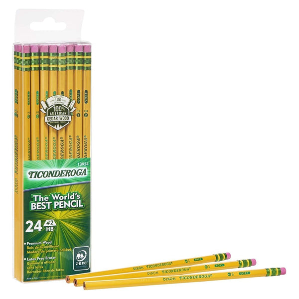 Ticonderoga Pencil, 24 Count HB #2, unsharpened - Keuka Outlet