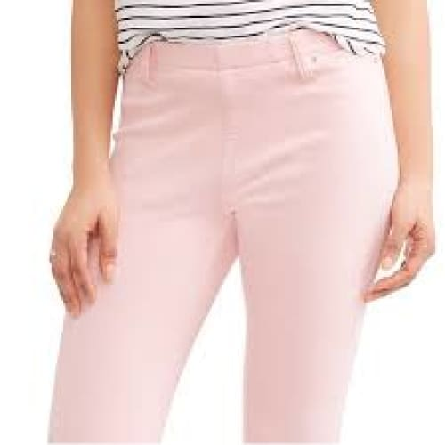 Time and Tru Women's Full Length Soft Knit Color Jeggings - L (12-14) / Day Lily Pink - Clothing