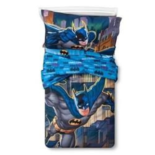 Toddler 4-pieces Batman Bedding Set - Blue - Bedding