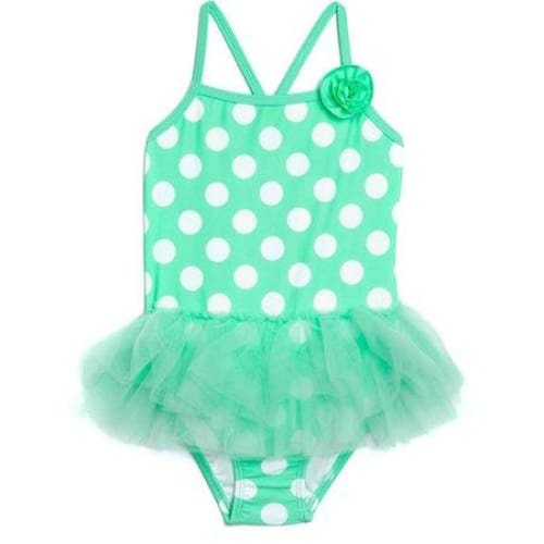 Toddler Girl Dynamo Dot Tutu Skirted One-Piece Swimsuit - Keuka Outlet