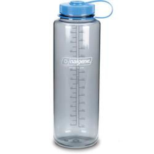 Translucent Wide Mouth Bottle With Blue Lid - 48 oz. - Kitchen
