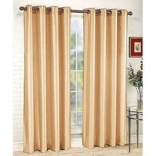 Tribeca Faux Silk Grommet Single Curtain Panel - Curtains