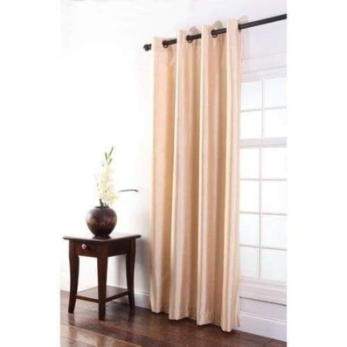 Tribeca faux silk grommet single curtain panel - Keuka Outlet
