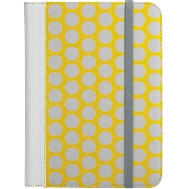 Universal Tablet Folio Case for 8.9 to 10.1 Tablets - Yellow / Dots - Electronics