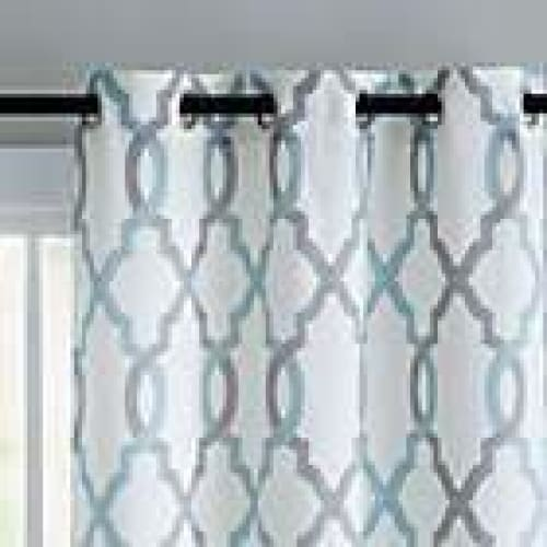 VCNY Home Caldwell Printed Curtain Panel Pair - Blue - 96 long - Curtains