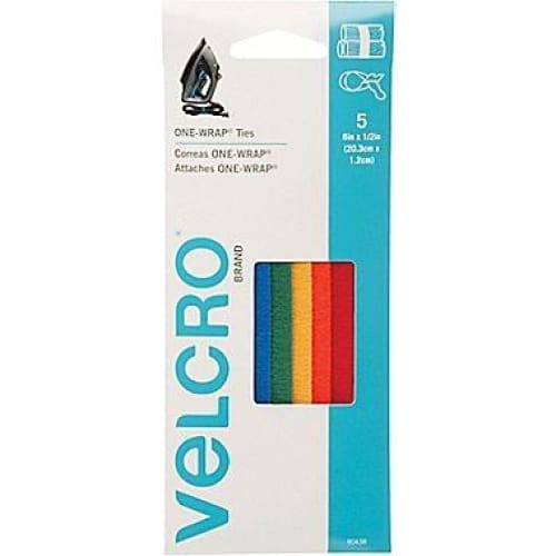 "Velcro One-Wrap 8 x 0.5"" Straps, 5 Pack - Keuka Outlet"