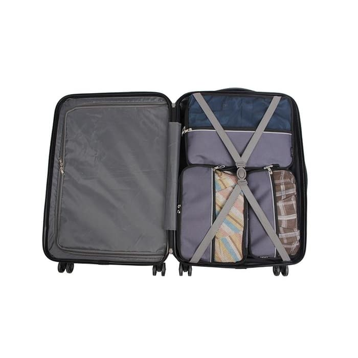 Verdi 3-Piece Packing Cube Organizer Set with Zipper Pockets - Gray - Luggage