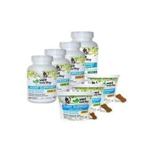 Vet Worthy Joint Support Supplement For Dogs: Level 4-Chewable/60-Count - Pet
