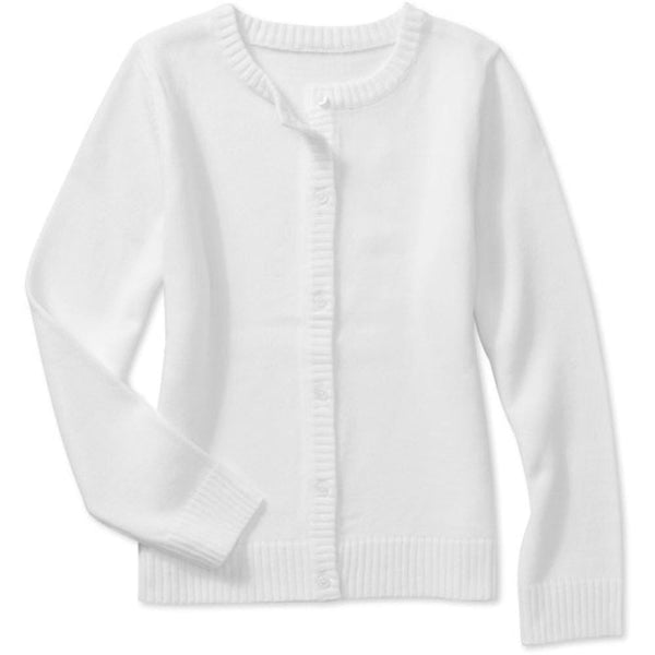 White button up sweater - XL (14-16) / Arctic White - Clothing