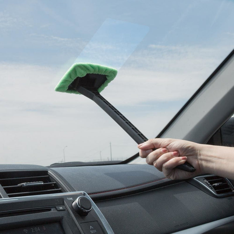 Windshield Cleaner Tool with Microfiber Cloth - Automotive