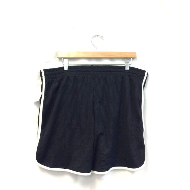 Womens Black and White Striped Active Shorts-Maternity - Maternity