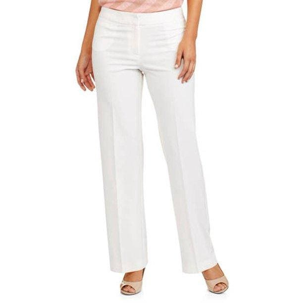 Women's Classic Career Suiting Pant - 8 / Winter White - Clothing