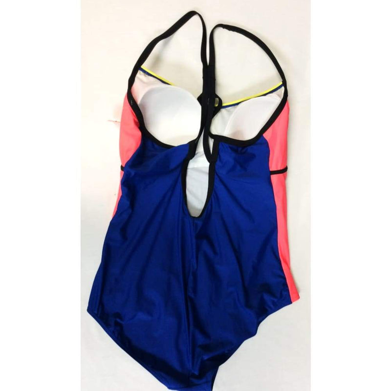 Womens color block one piece bathing suit - Womens Bathing Suit