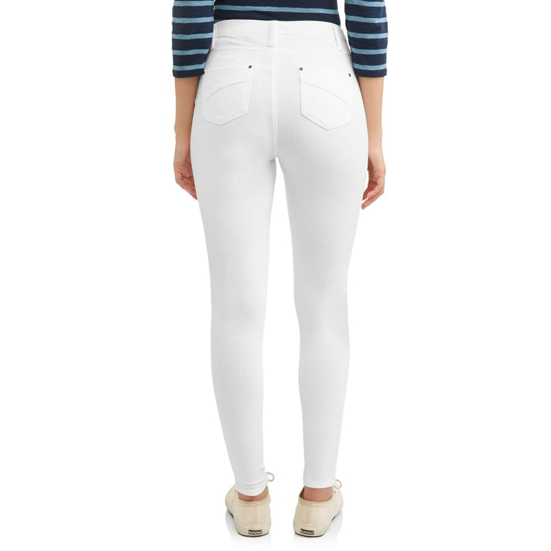 Women's Full Length Soft Knit Color Jegging - M (8-10) / Arctic White - Clothing