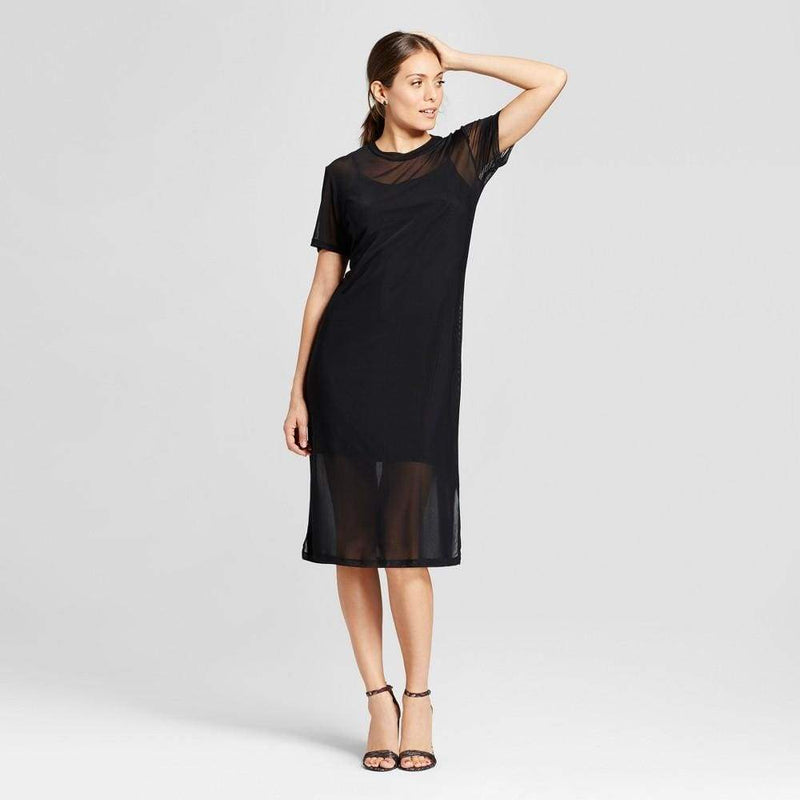 Women's Mesh Midi Dress with Slip - Keuka Outlet