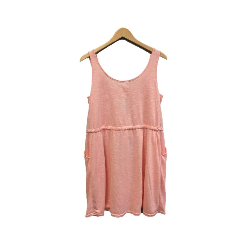 Womens peach cinched waist tank dress - Womens clothing