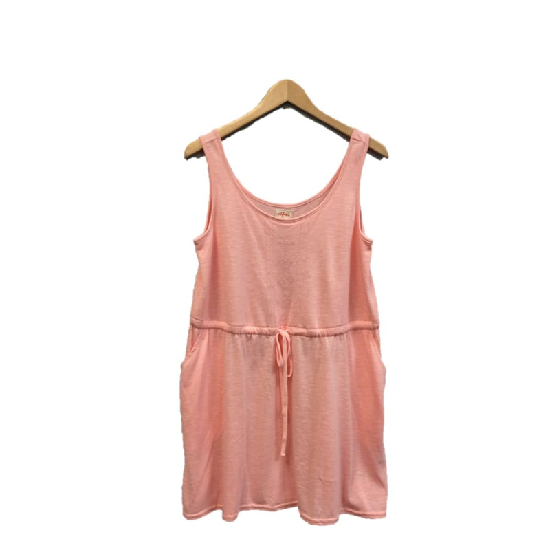 Womens peach cinched waist tank dress - Small / Peach - Womens clothing
