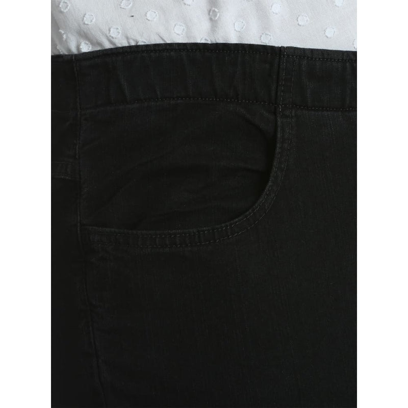 Women's Plus Modern Midrise Cuffed Capri - 18W / Black - Clothing