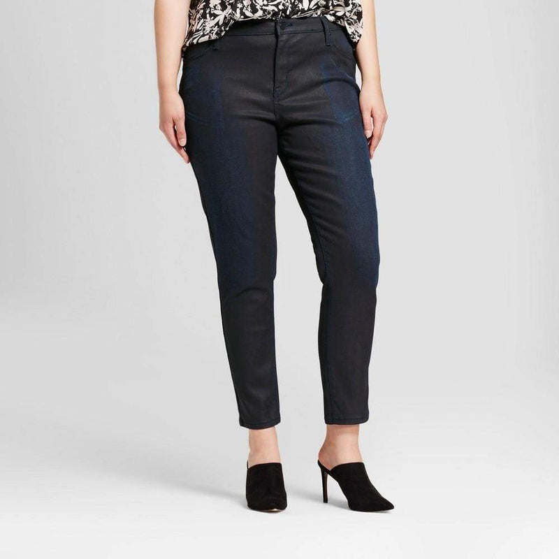 Women's Plus Size Coated Jeggings - Keuka Outlet