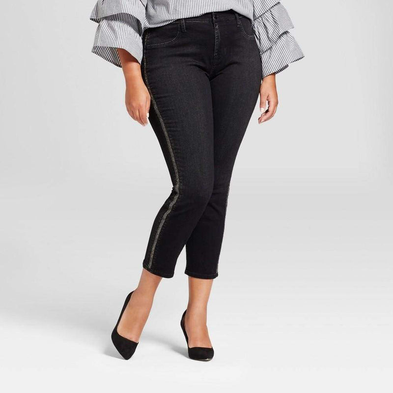 Women's Plus Size Embellished Jeggings - Keuka Outlet