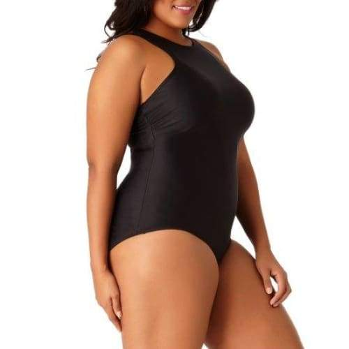 Women's Plus-Size Sporty Strappy One-Piece Swimsuit - Keuka Outlet