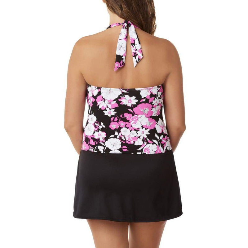 Women's Ring Tunic with Slit Skirt Two-Piece Swim Set - Keuka Outlet