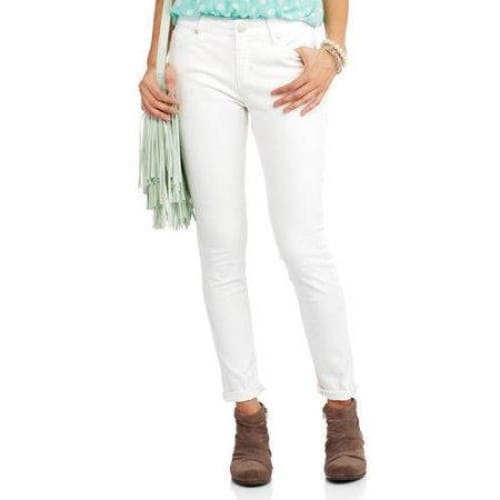 Women's Super Stretch Skinny Core Denim - 6A / Arctic White - Clothing