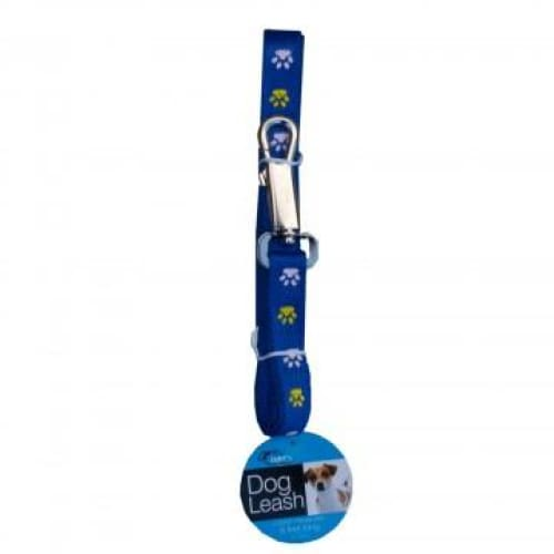 Woven Dog Leash with Paw Print Design - Keuka Outlet