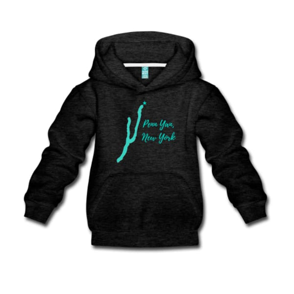 Youth Penn Yan New York Premium Hoodie - Small / Charcoal Grey - Clothing