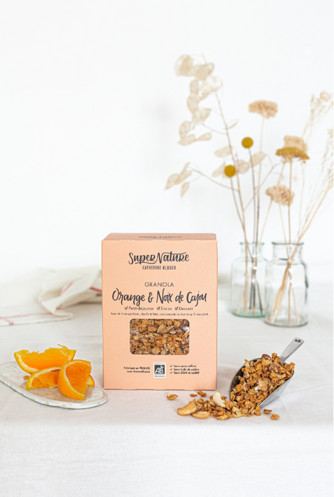 SuperNature -- Granola sucré bio - Orange & cajou - 10x350g