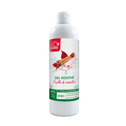 Solibio -- Gel douche feuille de cannelier bio - 6 x 500 ml