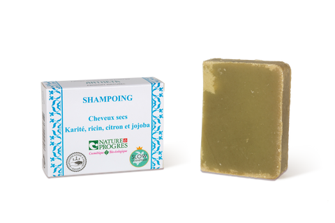 Antheya -- Shampoing solide végétal - Cheveux secs (Boîte couvrante) - 100g