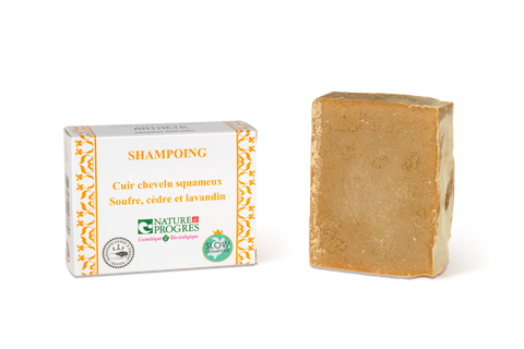 Antheya -- Shampoing solide végétal - Cuir chevelu squameux (Boîte couvrante) - 100g