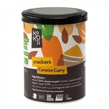 Kokoji - Crackers Carotte Curry 80g - 6x80g