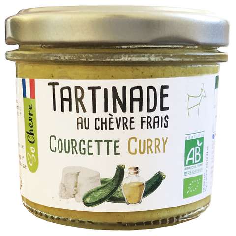 So Chèvre -- Tartinade bio - Chèvre frais courgette curry - 9x90g