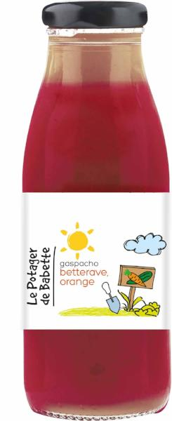 Le Potager de Babette - Gaspacho bio betterave, orange - 12 x 250ml