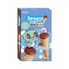 Spoonz Ice Cone Snacks Chocolate Flavor (1 box with 3 bags)