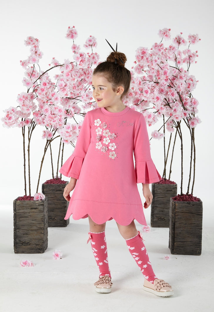 Adee blossom dress with tights