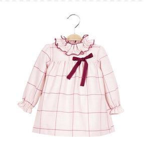 Burgundy And Pink Baby Dress